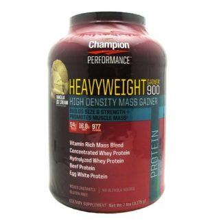 Champion Heavyweight Gainer 900 helps build muscle, post-workout recovery and increase endurance.