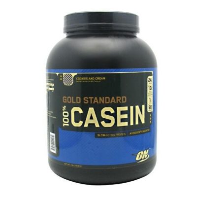 Optimum Nutrition Gold Standard 100% Casein helps keep you full for hours and keeps your muscles in a muscle building state.