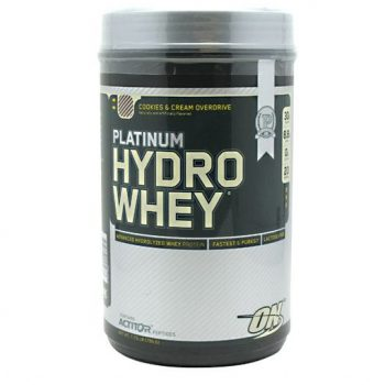 Optimum Nutrition Platinum Hydrowhey helps build muscle.