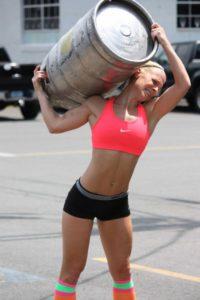 Crossfit Woman Keg Carry