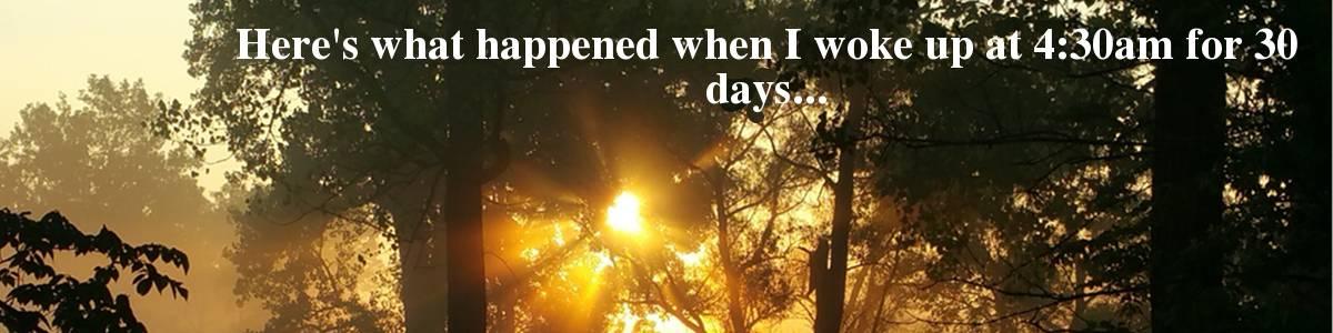 My thirty day challenge