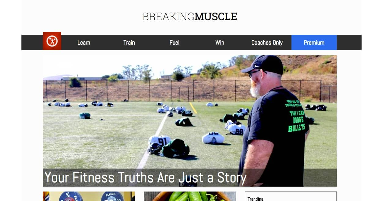 Contributing writer to breakingmuscle.com