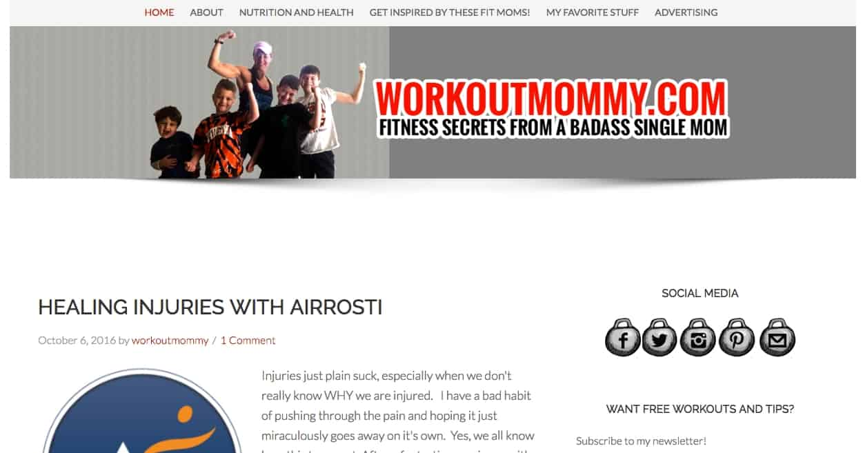 Contributing writer to workoutmommy.com