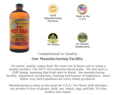 MCT Edge Oil is a quality product you can trust!