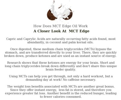 MCT Edge Oil Fatty Acids Explained