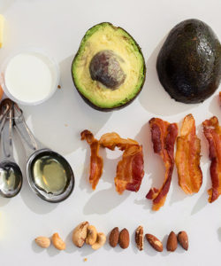 Fat from avocados, bacon, cheese, and other foods keeps you full and energized all day.