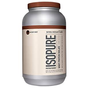 isopure natural whey protein powder