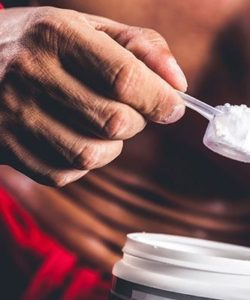 man creatine powder